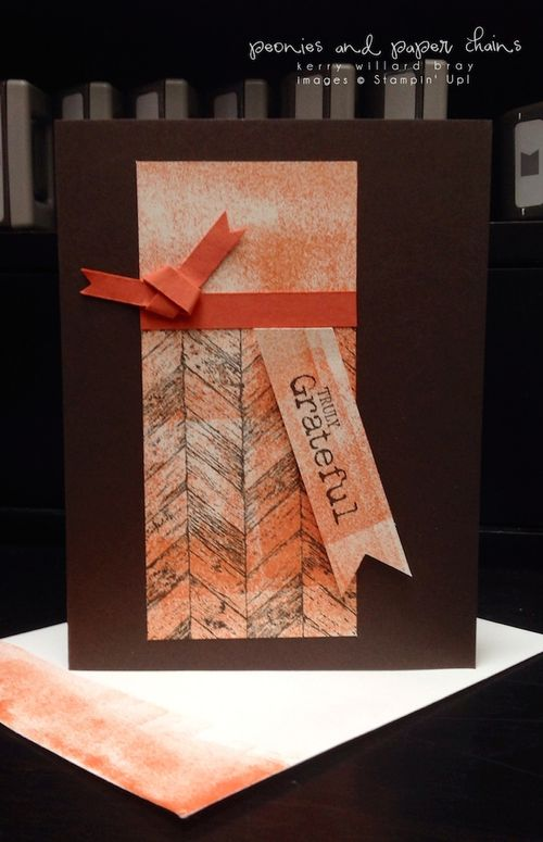 Stampin' Up! Truly Grateful card by Kerry Willard Bray www.peoniesandpaperchains.com