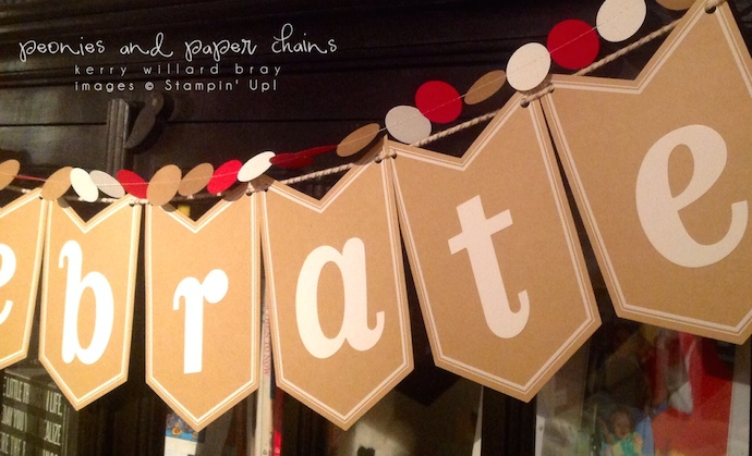 Stampin' Up! Celebration Basics banner by Kerry Willard Bray www.kerrywillardbray.com detail