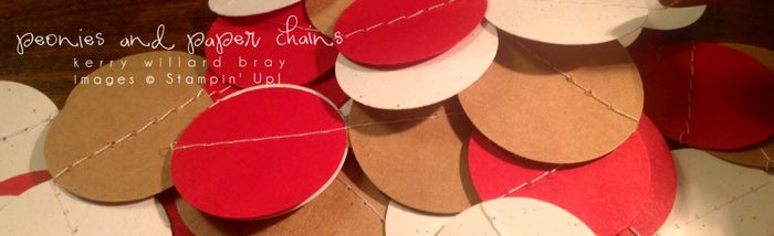 Stampin' Up! paper circle garland by Kerry Willard Bray www.kerrywilardbray.com