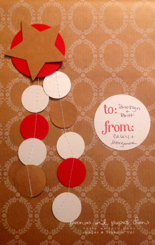 Stampin' Up! gift wrap embellishments by Kerry Willard Bray www.kerrywillardbray.com