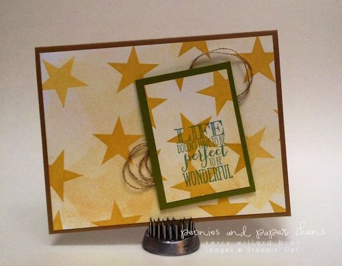 Stampin' Up! Perfect Pennants card by Kerry Willard Bray www.kerrywillardbray.com 1