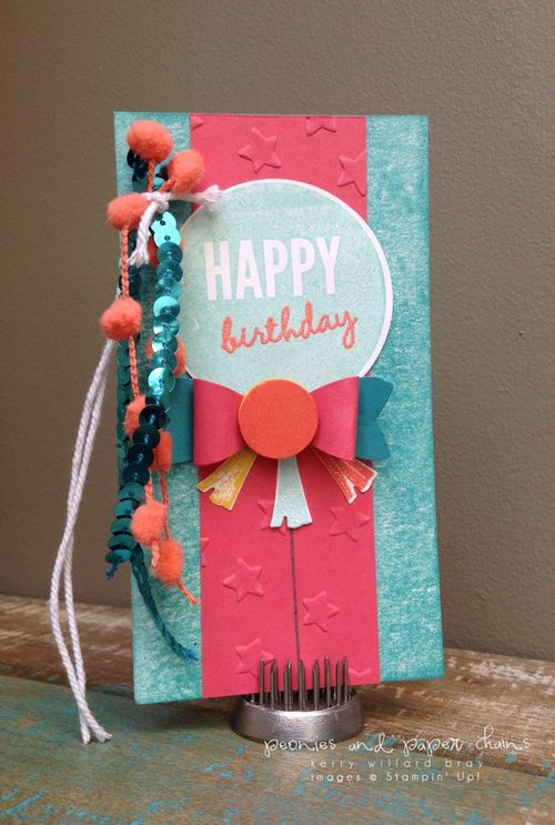 Stampin' Up! Celebrate Today birthday tag by Kerry Willard Bray www.kerrywillardbray.com