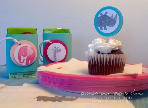 Stampin' Up! Zoo Babies party pieces by Kerry Willard Bray www.kerrywillardbray.com
