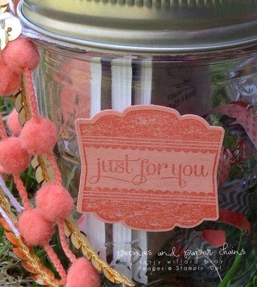 Stampin' Up! Label Love gift jars by Kerry Willard Bray 6