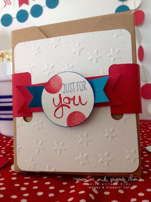Stampin' Up! Lucky Stars Embossing Folder 4th of July decor by Kerry Willard Bray www.kerrywillardbray.com 7